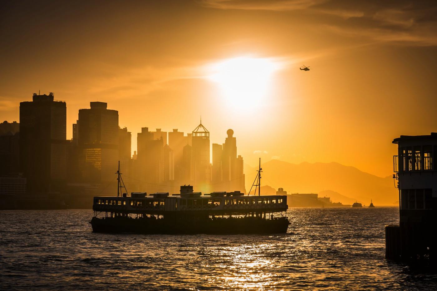 HK-Ferry-in-Victoria-Harbour